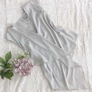 ASOS Grey Asymmetrical Blouse